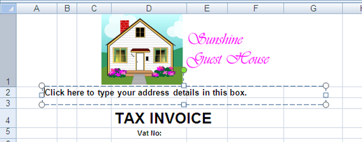 Sales Invoices Word How Do I Personalise The Invoice Template Sample Invoice Word with Invoice Factoring Costs Word Add Address Details By Clicking On Box And Typing This In Not Registered For Gst Tax Invoice Excel