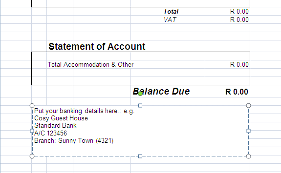 How Do I Personalise The Invoice Template - Invoice with bank details
