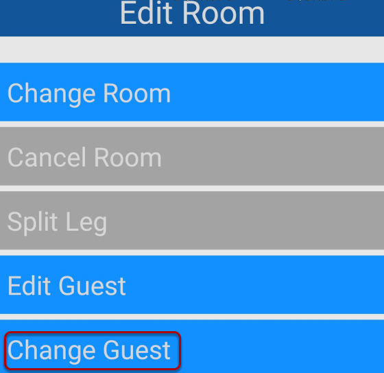 How To Change The Guest On A Room